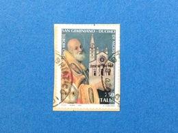 1997 ITALIA FRANCOBOLLO USATO STAMP USED SAN GEMINIANO DUOMO DI MODENA - 6. 1946-.. Repubblica