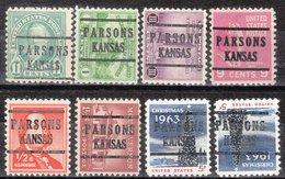 USA Precancel Vorausentwertung Preo, Locals Kansas, Parsons 224, 8 Diff., Perf. 11x10 1/2 - Vereinigte Staaten