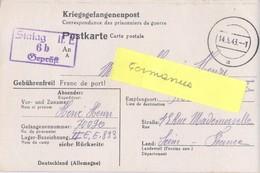 GUERRE 39-45 CORRESPONDANCE PRISONNIER DE GUERRE Français Au STALAG II E / 6b Schwerin, Allemagne Rédigé Le 9-5-43 - Marcofilie (Brieven)
