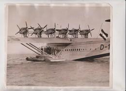ARMISTICE 1930 DO X TRIBUTE OF SILENCE GERMANS SOUTHAMPTON WATER GERMAN FLAG 25*20CM Fonds Victor FORBIN 1864-1947 - Aviación