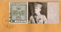 Australia 2015 Victoria Cross Winners 6 James Rogers, 1915 Boer War On Domestic Letter - Lettres & Documents