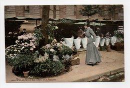 - CPA PARIS (75) - Le Marché Aux Fleurs De La Madeleine 1907 - Photo L.V. 1658 - - Frankrijk