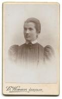 Fashion Dress, Cabinet Photo On Cardboard, Photo Atelier  HENNER, Jaroslaw Poland, D 10,5 X 6,5 Cm - Old (before 1900)