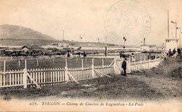 83 LA SEYNE HIPPODROME DE LAGOUBRAN LA PISTE CLICHE UNIQUE       + CACHET MARINE - La Seyne-sur-Mer