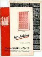 49. E. Mohrmann Auktion Hamburg 1943 - Früher Auktionskatalog - Catalogues For Auction Houses