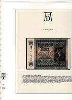 Banconota 5000 Deutsches Reich  Con Quadri Albrecht Durer, Su Foglio Speciale Lindner - Sonstige