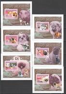 ZZ556 !!! IMPERFORATE 2008 REPUBLIQUE DE GUINEE ANIMALS DOGS CHIENS EN CHINE 6 LUX BL MNH - Chiens