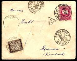COURRIER EN PROVENANCE DE SOPRON POUR LA FRANCE - 1898 - TAXE - - Lettres & Documents