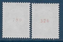 Cheffer N° 1536Ab **  Et 1536Bc  - Cote : 22 € - 1967-70 Marianna Di Cheffer