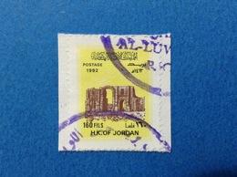 1992 GIORDANIA H K OF JORDAN FRANCOBOLLO USATO STAMP USED 160 FILS - Giordania