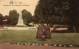 BELGIQUE - HUY - Promenade De L'Ile Et Monument De La Victoire (n°19). - Huy