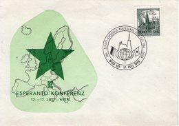 Enveloppe. Conférence Européenne D'esperanto à Vienne. 17/07/1965 - Poststempel - Freistempel