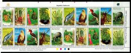 ID0648 Indonesia 1997 Animals And Plants, Protection Of Birds, Fish, Flowers S/S - Indonesia