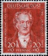 Bizonale (Allied Cast) 109 Avec Charnière 1949 200.Anniversaire De Goethe - Amerikaanse-en Britse Zone