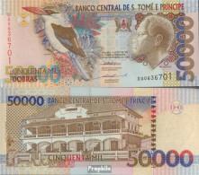 Sao Tome E Principe Pick-Nr: 68a Bankfrisch 1996 50.000 Dobras - San Tomé E Principe