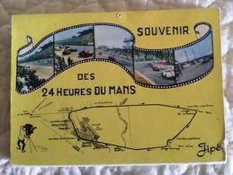 Carnet Dépliant CPSM 72 LE MANS - Course Des 24 Heures Du Mans - TB PLAN Dont Publicité SHELL MOTUL COCACOLA - Le Mans