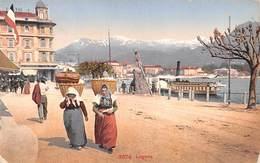 """M08433 """" LUGANO """" ANIMATA - TRAGHETTO A VAPORE-CARTOLINA  ORIG. SPED. 1911 - TI Tessin"""