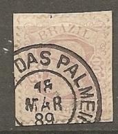 BRESIL Yv N°  55 (o)  200r Rose Pale Pedro II   Cote  7 Euro  BE - Brésil