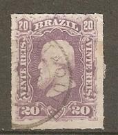 BRESIL Yv N°  38  (o)  20r Pedro II   Cote  3,5 Euro  BE  2 Scans - Brésil
