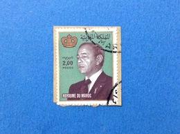 MAROCCO MAROC FRANCOBOLLO USATO STAMP USED RE HASSAN II 2,00 - Marocco (1956-...)