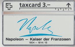 SUISSE - PHONE CARD - TAXCARD-PRIVÉE ***  NAPOLEON *** - Schweiz