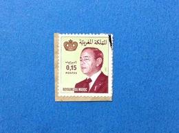 MAROCCO MAROC FRANCOBOLLO USATO STAMP USED RE HASSAN II 0,15 - Marocco (1956-...)