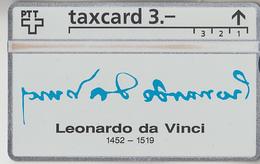 SUISSE - PHONE CARD - TAXCARD-PRIVÉE ***  LEONARDO DA VINCI *** - Schweiz