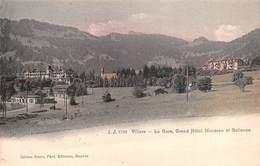 "M08434 ""VILLARS-LA GARE-GRAND HOTEL MUVERAN ET BELLEVUE "" STAZIONE-CARTOLINA  ORIG. SPED. 1907 - VD Vaud"