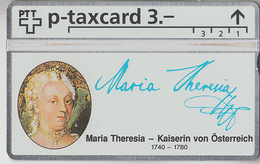 SUISSE - PHONE CARD - TAXCARD-PRIVÉE ***  MARIA THERESIA D' AUTRICHE *** - Schweiz