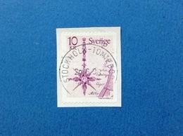 1978 SVEZIA SVERIGE FRANCOBOLLO USATO STAMP USED MAPPA BUSSOLA 10 Kr - Svezia