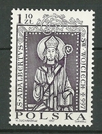 POLAND MNH ** 3429 MORT DE SAINT ALABERT - 1944-.... Republik