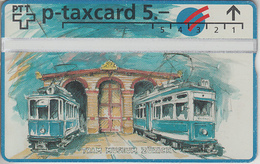 SUISSE - PHONE CARD - TAXCARD-PRIVÉE *** TRAIN - ZUG & TRAM - 100 ANS *** - Suisse