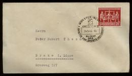 S6996 - Alliierte Besetzung 24 Pfg EF Hannover Messe Auf Briefumschlag : Gebraucht Mit Sonderstempel Münster - Brake L - Zone AAS