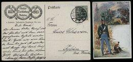 S6792 - DR Germania Militär Postkarte AK Waterloo , 5. Hannover Infanterie Regiment 165: Gebraucht Danzig - Oybin 1913 - Deutschland