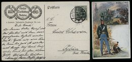 S6792 - DR Germania Militär Postkarte AK Waterloo , 5. Hannover Infanterie Regiment 165: Gebraucht Danzig - Oybin 1913 - Alemania