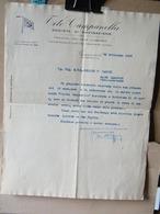 MONDOSORPRESA, (DC2) TITO CAMPANELLA SOCIETA DI NAVIGAZIONE - GENOVA LETTERA AL TENENTE ARNALDO DE MARCHI 1928 - Historische Dokumente