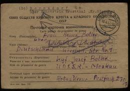 S5829 SBZ Weissrussland Kriegsgefangene Lager Postkarte Mit Zensur: Gebraucht Vitebsk - Limburg - Bernsdorf 1947, Beda - Zona Soviética
