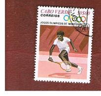 CAPO VERDE (CAPE VERDE)    -  SG 479 -  1980 OLYMPIC GAMES: TENNIS    - USED ° - Isola Di Capo Verde