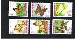 CAPO VERDE (CAPE VERDE)    -  SG 534.539  -  1982 BUTTERFLIES  (COMPLET SET OF 6)    - USED ° - Isola Di Capo Verde