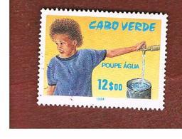 CAPO VERDE (CAPE VERDE)    -  SG 612  -  1988  WATER ECONOMY CAMPAIGN   - USED ° - Isola Di Capo Verde