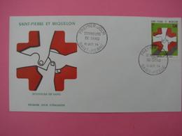 Enveloppe 1er Jour SPM/Saint Pierre Et Miquelon FDC DONNEURS DE SANG Oblitération15.10.1974 - St.Pierre Et Miquelon