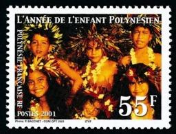 POLYNESIE 2001 - Yv. 637 **   Faciale= 0,46 EUR - Année De L'Enfant Polynésien  ..Réf.POL24157 - Ungebraucht