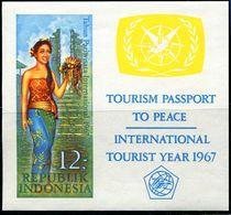 ID0669 Indonesia 1967 Tourist Girl Costume M/S - Indonesië
