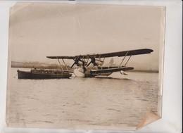 CRACK SIR ALAN Cobham's AFTER REPAIRS   25*20CM Fonds Victor FORBIN 1864-1947 - Aviación
