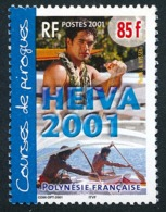 POLYNESIE 2001 - Yv. 645 NEUF   Faciale= 0,71 EUR - Course De Pirogues, Hommes  ..Réf.POL24162 - Französisch-Polynesien