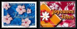 POLYNESIE 2002 - Yv. 657 Et 658 **   Faciale= 0,92 EUR - Messages (2 Val.)  ..Réf.POL24168 - Französisch-Polynesien