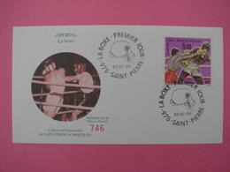 Enveloppe 1er Jour SPM/Saint Pierre Et Miquelon FDC N°746 SPORT LA BOXE Oblitération 07.02.1996 - St.Pierre Et Miquelon