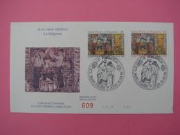 Enveloppe 1er Jour SPM/Saint Pierre Et Miquelon FDC N°609 LE FORGERON Oblitération 010.04.1996 - St.Pierre Et Miquelon