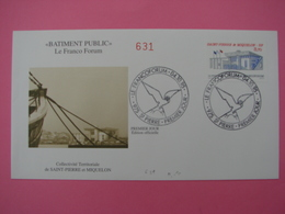 Enveloppe 1er Jour SPM/Saint Pierre Et Miquelon FDC N°631 LE FRANCO FORUM Oblitération 04.10.1995 - St.Pierre Et Miquelon