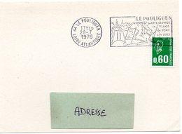 MARINE = 44 LE POULIGUEN 1976 = FLAMME à DROITE = SECAP Illustrée D'un VOILIER Et D'une PLAGE + 'COTE SAUVAGE' - Postmark Collection (Covers)